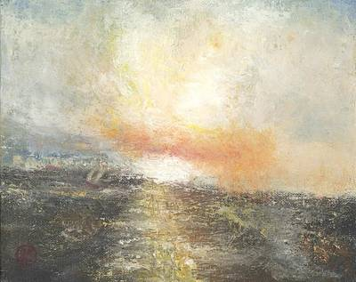 Painting -  Sunset Drama by Joe Leahy