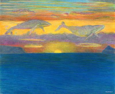 Sunset Drifters Art Print by Kenneth Grzesik