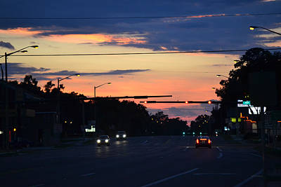 Photograph - Sunset - Driving Home by rd Erickson
