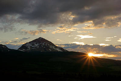Photograph - Sunset East Of Glacier by Daniel Woodrum