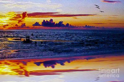 Sunset En Deux Art Print