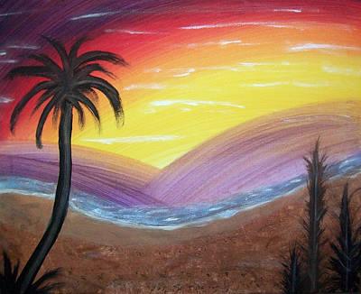 Sunset Escape Art Print by Lora Mercado