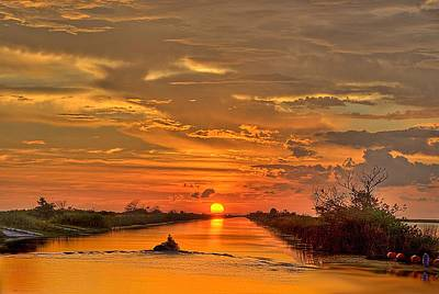 Sunset Everglades Art Print by Bob Mulligan