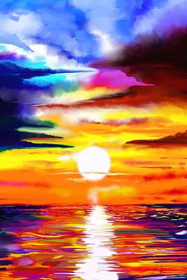 Sunset Explosion Art Print