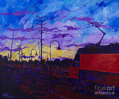 Painting - Sunset Express by Michael Ciccotello