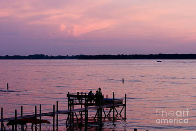 Steven Krull Royalty-Free and Rights-Managed Images - Sunset Family by Steven Krull