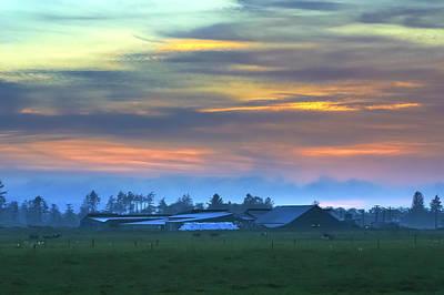 Photograph - Sunset Farm by Joseph Bowman