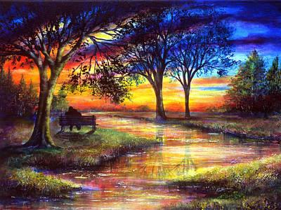 Sunset Feeling Art Print