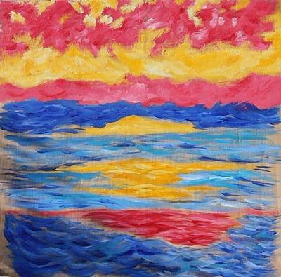 Sunset Art Print by Felicia Roberts