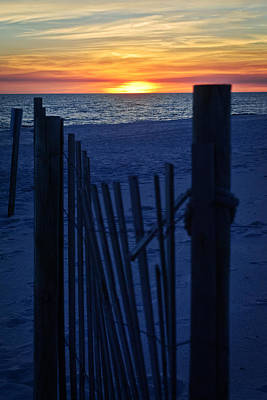 Photograph - Sunset Fence by George Taylor