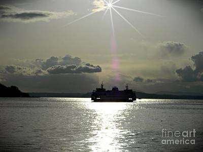 Photograph - Sunset Ferry 2 by Chalet Roome-Rigdon