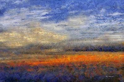 Sunset Field Art Print by RC deWinter
