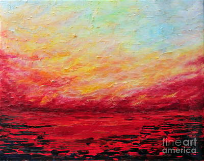 Painting - Sunset Fiery by Teresa Wegrzyn