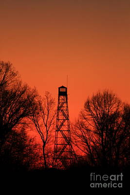Sunset Fire Tower In Oconee County Art Print