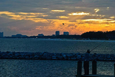 Photograph - Sunset Fishing by George Taylor