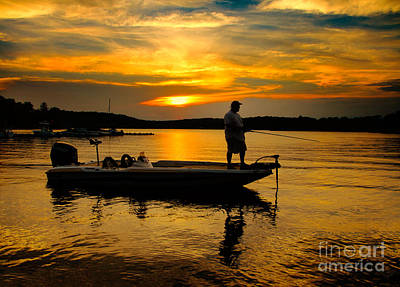 Photograph - Sunset Fishing by Mark Miller