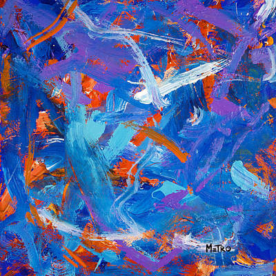 Abstract Horse Painting - Sunset Flight by Metro Meteor
