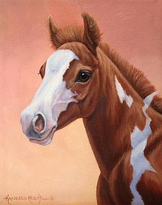 Painting - Sunset Foal by Kathleen  Hill