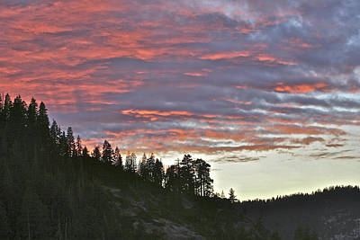 Photograph - Sunset From Glacier Point Road Yosemite by SC Heffner