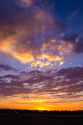Photograph - Sunset From Interstate by Rima Biswas