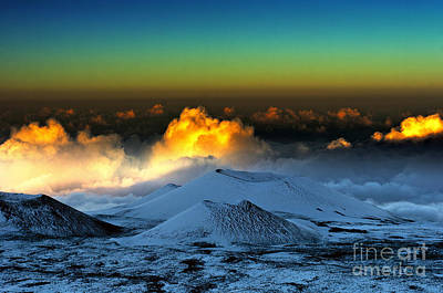 Sunset From Mauna Kea Art Print by Karl Voss