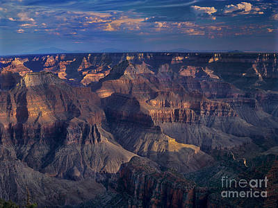 Photograph - Sunset From Noth Rim Lodge Grand Canyon National Park by Dave Welling