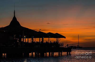 Sunset From Pelican Pier Art Print