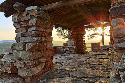 Sunset Photograph - Sunset From The Ccc Overlook - Petit Jean State Park - Arkansas by Jason Politte