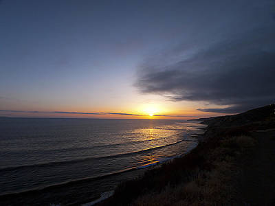 Photograph - Sunset From The Coastal Trails by Joe Schofield