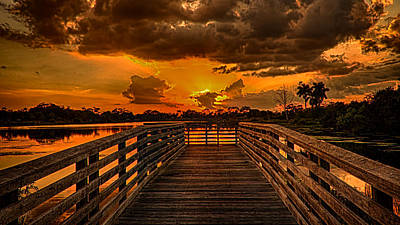 Photograph - Sunset From The Dock by Don Durfee