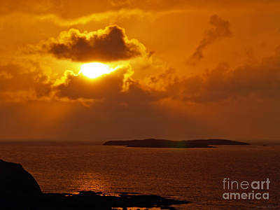 Dolphine Photograph - Sunset From The Dolphin Watch Cottage by Patricia Griffin Brett