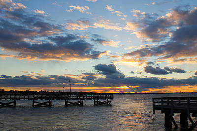 Art Print featuring the photograph Sunset From The Fishing Piers by Jose Oquendo