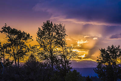 Abstract Male Faces - Sunset from Trestle Creek by Albert Seger