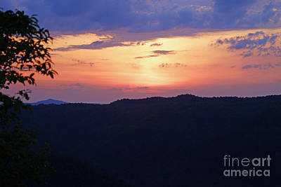 West Virginia Photograph - Sunset From Turkey Spur by Timothy Connard