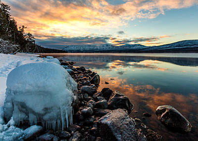 Photograph - Sunset Frozen by Aaron Aldrich
