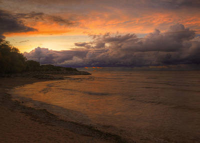 Photograph - Sunset Fury And Solitude On Georgian Bay by Hany J