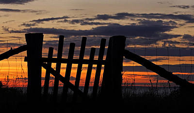 Sunset Gate Art Print by Inge Riis McDonald