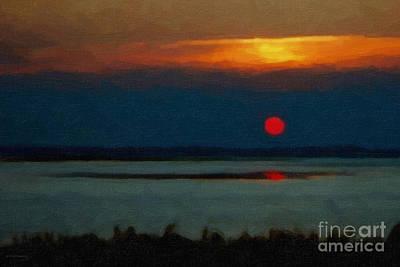 Beach Landscape Mixed Media - Sunset by Gerlinde Keating - Galleria GK Keating Associates Inc