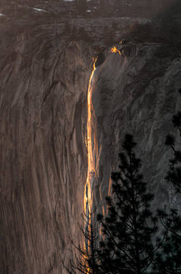 Photograph - Sunset Glow Horsetail Falls by Connie Cooper-Edwards