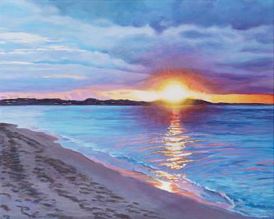 Painting - Sunset Glow On Grace Bay by Liz Zahara