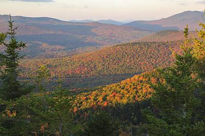 Sunset Glow Over The Autumn Landscape Art Print