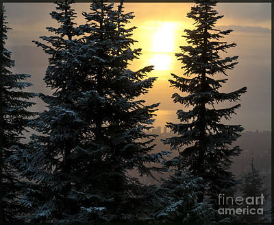 Photograph - Glow - Grouse Winter Sunset by Maria Janicki