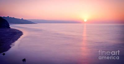 Summer Sunset Whitby Print by Janet Burdon
