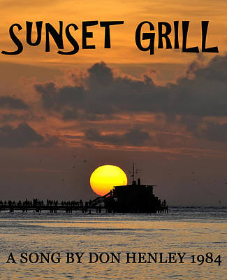 Famous Songs Digital Art - Sunset Grill Don Henley 1984 by David Lee Thompson