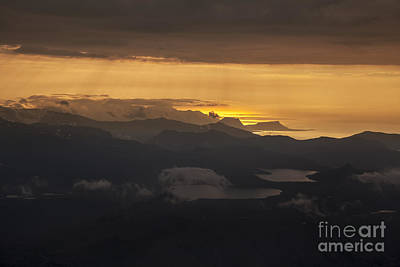 Sunset Art Print by Gunnar Orn Arnason