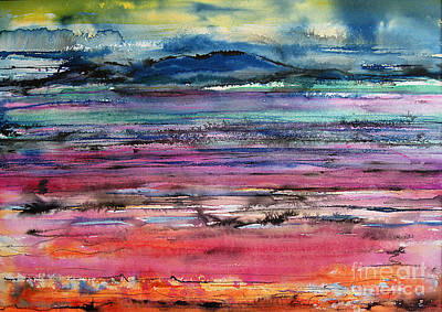 Sunset Art Print by Gwen Nichols