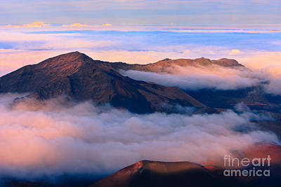 Sunset Haleakala National Park - Maui Art Print by Henk Meijer Photography
