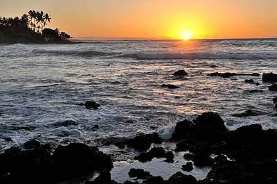 Photograph - Big Island Sunset by Haleh Mahbod