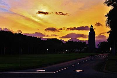 Sunset Hickam Air Force Base Freedom Tower Art Print