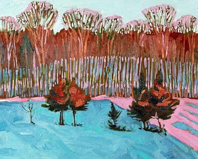Juniper Painting - Sunset Hillside by Phil Chadwick